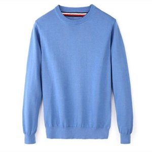 Fashion-Men's High Quality Tommi O-Neck 100%Cotton Sweater Autumn Winter Jersey Jumper Hombre Pull Homme Hiver Pullover Knitted Sweaters