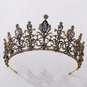 2021 Новые старинные барокко свадебные присталки Tiaras Acbersage Prom Headwear Потрясающие кристаллы свадьбы свадьбы и короны 1913