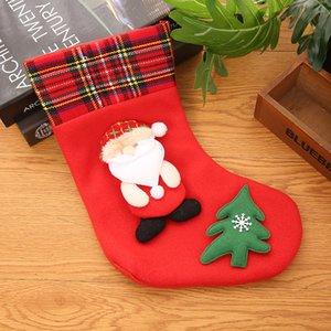 Christmas stocking 24 styles Cute Candy Gift bag snowman santa claus deer bear santa sack christmas ornaments pendants DDC2517