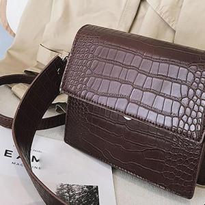 Womens Designer Handbag 2019 Fashion High Quality Pu Leather Women Handbags Crocodile Pattern Shoulder Messenger Bag 38