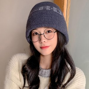Autumn Winter Fashion Knitted Beanie Hat Sweet Outdoors Windproof Skullies Caps Letters Casual All Match Earflap Cap 5 Colors