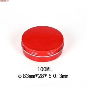 Bunte Sahne Verpackungsbox Metall Aluminium Reiseflasche Kerze Gläser für Kosmetika Leer Wachs Lagerbehälter 100ml 30pcshigh Quatity
