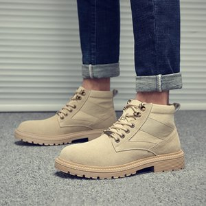Brand Men Army Boots Outdoor Leisure Workwear Boots Genuine Leather Tooling Mens Hiking Sneakers Fashion Retro