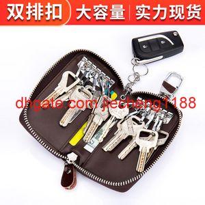 Sac à clés spécial Multi Fonction Cuir Sac à glissière pour hommes Ménage Homme Grande capacité Femme