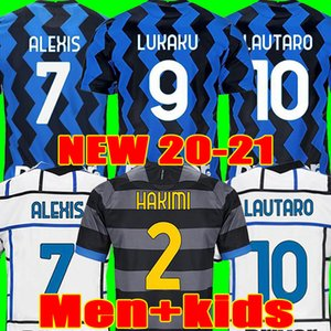soccer jersey LUKAKU VIDAL BARELLA LAUTARO ERIKSEN ALEXIS HAKIMI 20 21 football shirt 2020 2021 uniforms men + kids kit third