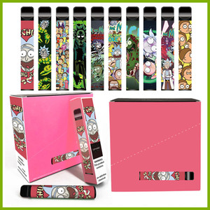Cartoon Puff Plus 800 + Puffs 550mAh Einweg-Vape-Stift 11 Farben OEM 3.2ml E-Zigarette Einweggerät VS Puff Bar Poco Plus