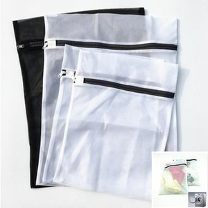 4pcs set Mesh Laundry Washing Bag Underwear Storage Women Hosiery Bra Clothing Washing Storage Bag Protecting Cover White Blac
