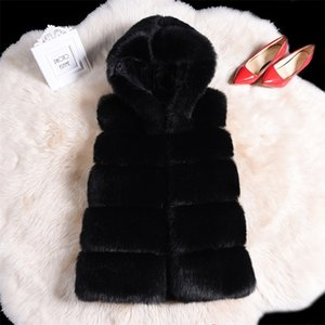 Fashion streetwear warm faux fur hoody vest coat parka winter fluffy teddy bear coat women plus size 4xl Patchwork Fur coat 201221