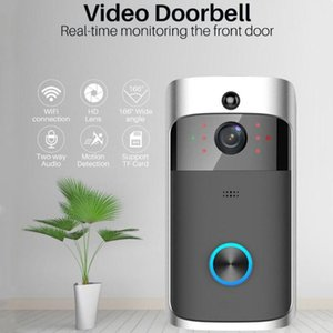 1080P WiFi Video Doorbell Tuya Smart Doorbell Security Camera Door with PIR Motion Detect Twoway Intercom Alexa Doorbells Google