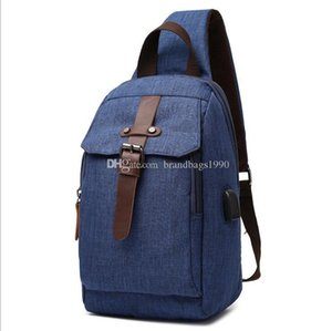 Deep Blue Backpack Style Travel luggage Bag Single strap one Strap bag Solid color splash proof backpack for middle school students free s