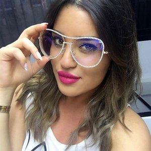 Мужчины панк NX бедро алмазные металлические солнцезащитные очки Bling One Piece Hop Sun Glasses женщин личностные стразы гонщины Goggles UV400 для Fuuke