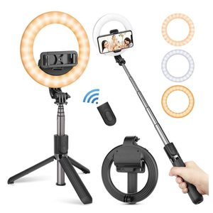 Tripod Cillphone Tripod Live Breadcast Ring Fill Fild Fold Selfi Stick Portable Dimmable Filding Fill Light State