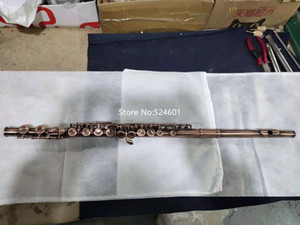 New Product C Tune Flute 16 Keys Closed Holes Antique Copper High-Quality Musical Instruments With Case Free Shipping