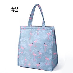 Cute Lunch Bags For Women Kids Picnic Beach School Flamingo Portable Tote Handbag Container Kitchen Storage