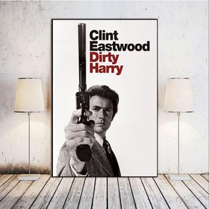 Home Decor Canvas Mural Dirty Harry Clint Eastwood Action Crime Fear Movie Painting Nordic Poster Living Room