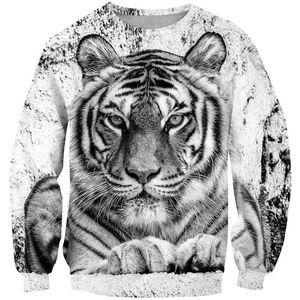 Cool 3D Tiger King Hoodies Kids Black and white Tiger Head Sweatshirts 3D Boy Girl Clothes Sweater Anime Japan tattoo Sudadera