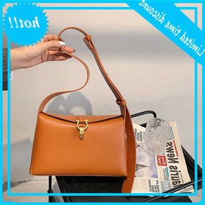 Lock small square wide strap 2021 new Korean style simple single shoulder bag