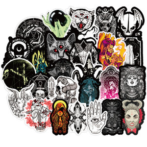 50pcs Lot New Gothic Style Horror Devil Witch Graffiti Stickers DIY Car Skateboard Travel Luggage Guitar Laptop Cool Decal Stickers