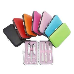 7 Цветов Ногтей для ногтей Комплект Ножницы Пинцет ушной выбор Маникюр набор ногтей маникюр набор маникюр 7 шт. Установленная вечеринка FABLE T9i00942 208 G2