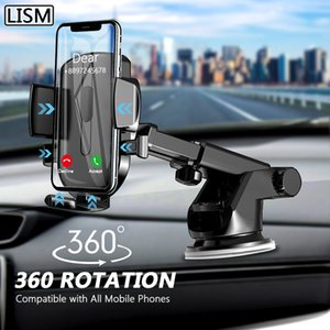 LISM Sucker Car Phone Holder Mobile Phone Holder Stand in Car No Magnetic GPS Mount Support