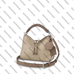 M56084 M56073 BEAUBOURG HOBO MM Kadın Tuval Hakiki Buzağı Gümüş Donanım Çanta Çanta Kayışı Omuz Çantası Tote