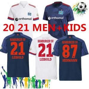 2020 2021 هامبرغر SV بعيدا كرة القدم الفانيلة Kittel Leibold Dudziak Terodde 20 21 همبرغر SV Camisas de Futbol رجل أطفال كرة القدم القمصان