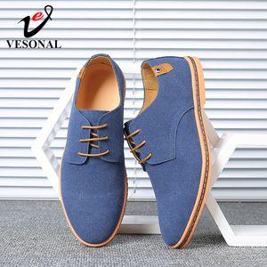 Vesonal marca 2020 primavera camurça couro homens sapatos oxford casual clássico sneakers para macho confortável calçado grande tamanho 38-46 C1120