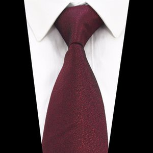 New Solid Color Tie Red Gold Gray Green Ties For Men Jacquard Woven Silk Neck Tie Suit For Formal Party Wedding