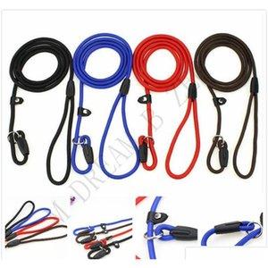 Durable Pet Dog Nylon Seil Trainingsleine Slip Blei Gurt Einstellbare Traktionskragen Pet Tiere Seilzubehör Zubehör0.6 * 130 cm 6msX8