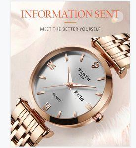 2021 WLISTH 시계 여성 시계 탑 브랜드 럭셔리 쿼츠 손목 시계 로즈 골드 시계 Reloj Mujer Relogio Feminino Zegarek Damski