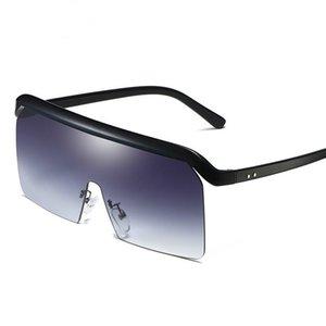 Homem de oversize All-Match Integrated Grande Lens Party Estética Estética Sun Óculos de Sol ao Ar Livre Ciclismo Esportes Óculos de Sol