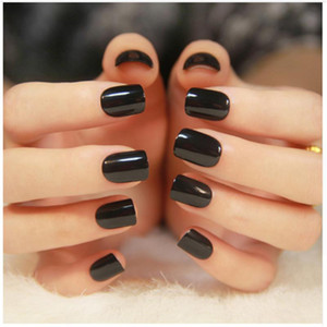 5Colors Fake Nails Long Pointed Wear Manicure Matte Stick on Nails Nail Art Press on Drop Shipping Hot Sale