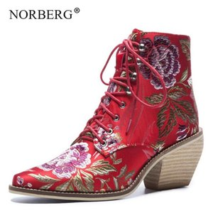 Autumn   winter ethnic style retro embroidery women's shoes wedding shoes with flowers high heel low-sleeve winter boots
