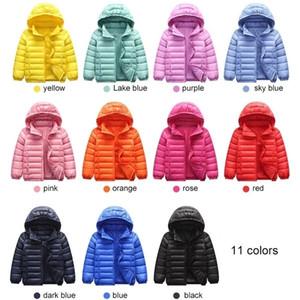 90% Duck Down Jacket Coat Baby Girls Boys Parka Kids Jacket Hood Winter Children Jacket Spring Fall Toddler Outerwear 1-12 Year 201126