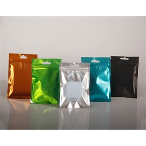 Factory Resealable side clear colored 8.5*13cm Zip One Mylar Bag Aluminum Foil Bags Smell Proof Pouches Jewelry