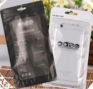 12 * 21cm Universal Zip Serrure Sac à glissière Mobile Coque Packaging Sac Écouteur Matte Clear Clear PVC Sacs d'emballage PVC pour iPhone X 8 Plus