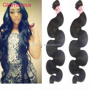 Glamorous Indian Body Wave Human Hair Weaves 2 Bundles Fashion Wavy Hair Style Peruvian Malaysian Brazilian Virgin Hair Weft for black women