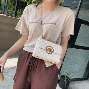 Women Luxurys Designers Crossbody Bags 2021 New Fashion Handbag Plain Chains Mini Flap Casual Shoulder For Women's Bag Wholesale Etemh