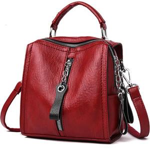 Fashion Multifunction Mini Backpack Sac a Dos School Bags For Girls Mochilas Women Leather Backpacks Vintage Female Shoulder Bag