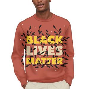 Негабаритная черная жизнь имеет значение Men Crewneck тиснение свитер одежда уличная одежда без тегной футболки африканские толстовки