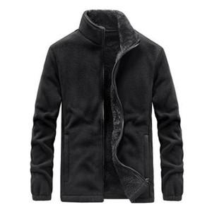 Mens Fleece Liner Jackets Fashion Trend Long Sleeve Stand-up Collar Zipper Coats Designer Male Winter New Casual Slim Outerwear