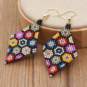 GO2BOHO orecchino perline per le donne gioielli alla moda anello per orecchio bohemien japaese miyuki semi perline gioielli colorati perline orecchini