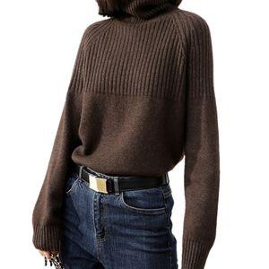 Tailor Sheep Cashmere Suéter Mujeres de manga larga espesando suéter suelto de gran tamaño Suéter hembra Tops de lana cálida 201031