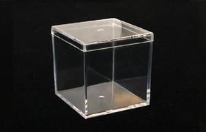 6 pezzi Nuova scatola di immagazzinaggio acrilico trasparente trasparente cubo quadrato Display multiuso in plexiglass gioielli regalo confezione regalo scatole