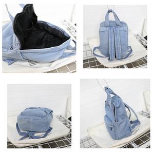 Designer-Harajuku Denim School Bag Teenager Solid Color Backpack Ladies Large Capacity Schoolbags Fashion Travel Backpacks Student Purse