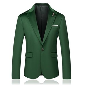 Luxury Mens Wedding Blazer One Button Fashion Green Blazers Business Formal Slim Fit Suit jackets Men High Quality Dress Male