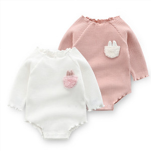 Cute Baby Girls Clothes Spring Autumn Cotton Long Sleeved Bodysuit Baby Bag Fart Jumpsuit Sibling Outfits Newborn Infant Clothes J1203