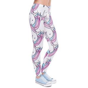 Women 3D Unicorn Women Girls Funny Animal Skinny Leggings Jeggings Pants Basic Casual Leggins Female Q1119