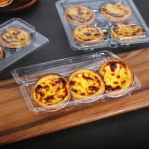 50pcs Transparent Plastic Egg Tart Packaging Supplies Pastry Dessert Birthday Party Child Favor Baking Celebrate