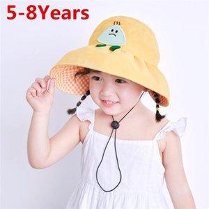 Cute Kids Baby Hat Cartoon Summer Children Girl Sun Hat Cotton Bucket Cap Outdoor Toddler Panama Beach Cap